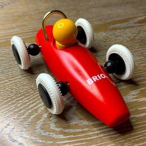 BRIO Swedish Bestselling Baby 30077 Red Wood Race Car White Wheels